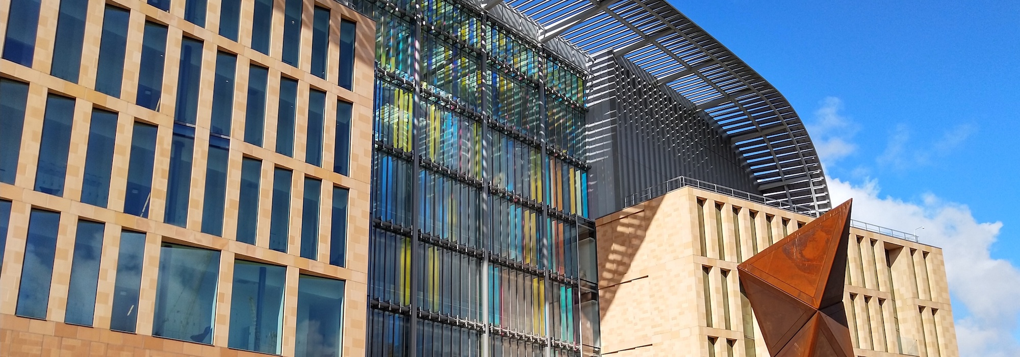 The facade of the Francis Crick Institute